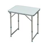 Outsunny Campingtisch Klapptisch Universaltisch Koffertisch Gartentisch Falttisch höhenverstellbar Alu + MDF Weiß 60 x 45 x 47,5/64 cm - 1