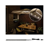 Paulmann 942.08 Outdoor Mobile Parasol-lighting IP44 3000K 4x0,4m Sonnenschirmleuchte Dekoleuchte Lichtbänder LED Stripes 94208 - 1