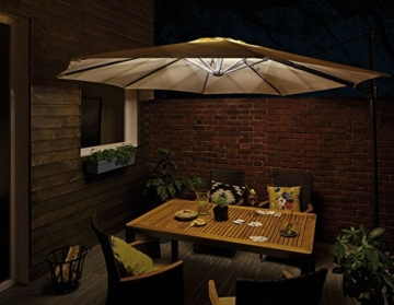 Paulmann 942.08 Outdoor Mobile Parasol-lighting IP44 3000K 4x0,4m Sonnenschirmleuchte Dekoleuchte Lichtbänder LED Stripes 94208 - 3