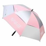 PGM Golfschirm Automatik 134cm Regen UV Schutz Double Layer (Pink) - 1