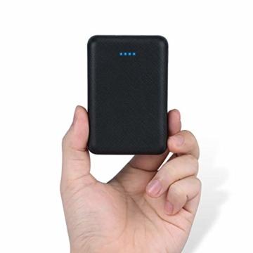 POSUGEAR Powerbank 10000mAh, Power Bank mit 2 Ausgängen (2.1A+1A) Kompatibel mit Allen Handys und Tablets (Schwarz) - 1