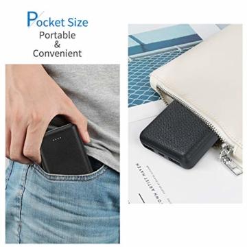 POSUGEAR Powerbank 10000mAh, Power Bank mit 2 Ausgängen (2.1A+1A) Kompatibel mit Allen Handys und Tablets (Schwarz) - 7