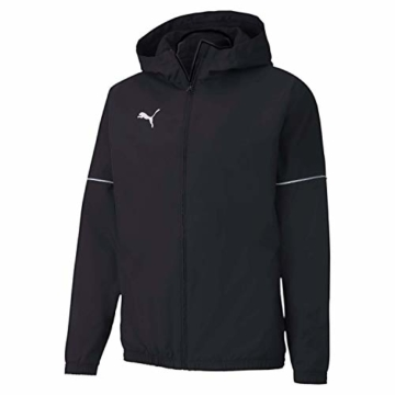 PUMA Herren teamGOAL Rain Jacket Core Regenjacke, Black White, XL - 1