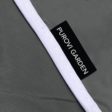 Purovi® Premium Schutzhülle für Hollywoodschaukel | Abdeckung für Gartenschaukel | Oxford Gewebe | Wetterschutz | Wasserdicht | Universal passend 210 x 150 x 150 cm - 2