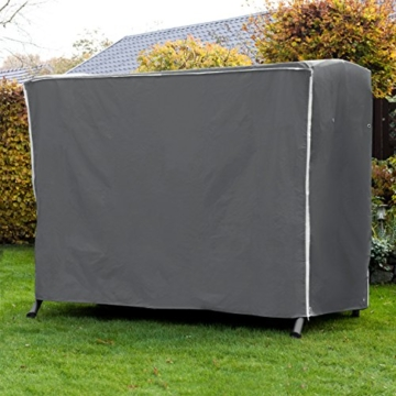 Purovi® Premium Schutzhülle für Hollywoodschaukel | Abdeckung für Gartenschaukel | Oxford Gewebe | Wetterschutz | Wasserdicht | Universal passend 210 x 150 x 150 cm - 6