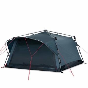 Qeedo Quick Villa 3, Campingzelt 3 Personen, Sekundenzelt - grau - 1