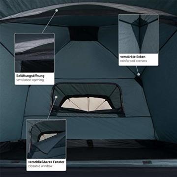 Qeedo Quick Villa 3, Campingzelt 3 Personen, Sekundenzelt - grau - 9