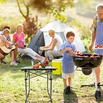 Qisiewell Aluminium Klapptisch Campingtisch Multifunktionstisch Camping Wandern Reisen Picknick Sonstige Indoor-Outdoor Aktivitaten (52 x 52 x 49 cm) - 8