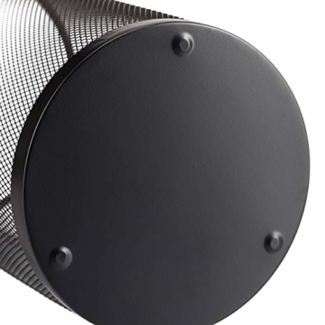 Relaxdays Schirmständer Metall, runder Schirmhalter aus Korbgeflecht, Stockhalter universal, 26cm Ø, 50cm hoch, schwarz - 2