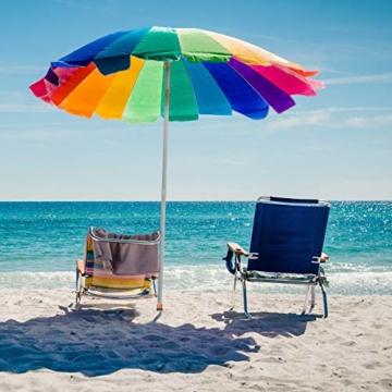 Relaxdays, schwarz/rot Bodenhülse, Einschraubhülse mit Griffen, Erddorn für Sonnenschirm, 19-32 mm, Camping, Strand - 4