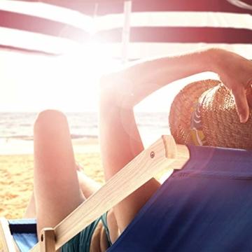 Relaxdays, schwarz/rot Bodenhülse, Einschraubhülse mit Griffen, Erddorn für Sonnenschirm, 19-32 mm, Camping, Strand - 8