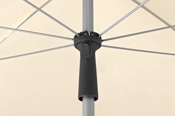 Schneider Sonnenschirm Locarno, natur, 150 cm rund, Gestell Stahl, Bespannung Polyester, 2 kg - 2