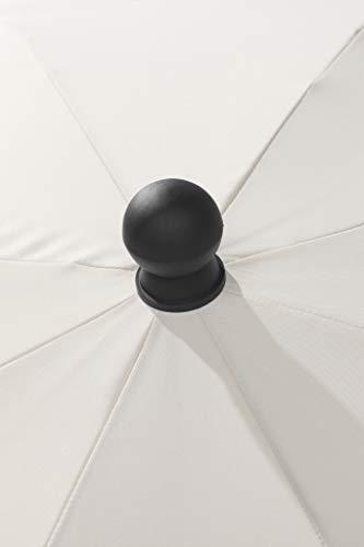 Schneider Sonnenschirm Locarno, natur, 150 cm rund, Gestell Stahl, Bespannung Polyester, 2 kg - 3