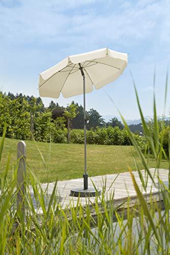Schneider Sonnenschirm Locarno, natur, 150 cm rund, Gestell Stahl, Bespannung Polyester, 2 kg - 4