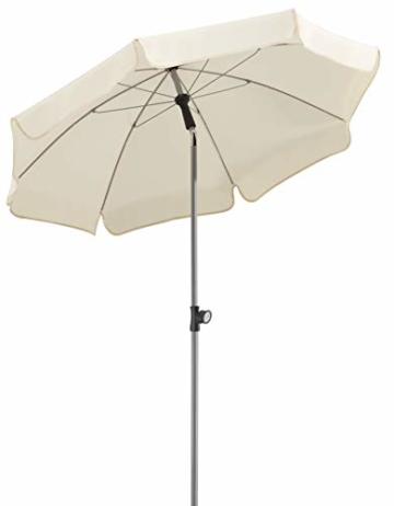 Schneider Sonnenschirm Locarno, natur, 150 cm rund, Gestell Stahl, Bespannung Polyester, 2 kg - 1