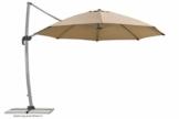 Schneider Sonnenschirm Rhodos Rondo, sand, 350 cm rund, Gestell Aluminium, Bespannung Polyester, 22.4 kg - 1