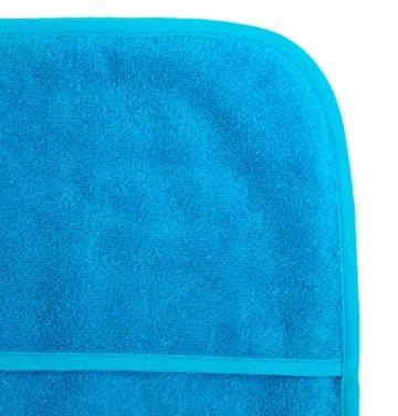 Schonbezug für Gartenliege, Strandliegenauflage, Frottee Schonbezug, 100% Baumwolle - ca.75x200 cm - Türkis - Brandseller - 2