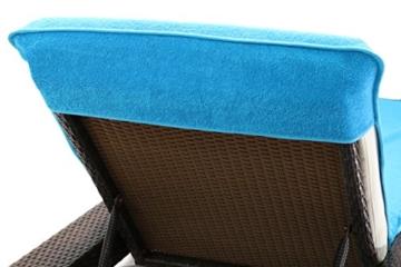 Schonbezug für Gartenliege, Strandliegenauflage, Frottee Schonbezug, 100% Baumwolle - ca.75x200 cm - Türkis - Brandseller - 4