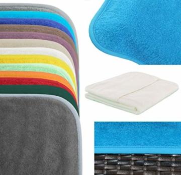 Schonbezug für Gartenliege, Strandliegenauflage, Frottee Schonbezug, 100% Baumwolle - ca.75x200 cm - Türkis - Brandseller - 5