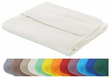Schonbezug für Gartenliege, Strandliegenauflage, Frottee Schonbezug, 100% Baumwolle - ca.75x200 cm - Türkis - Brandseller - 6