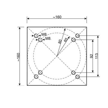 Sekey Metall Universal-Bodenplatte/Sonnenschirmständer für Sonnenschirm/Ampelschirm/Kurbelschirm, Silber - 2