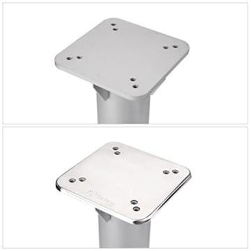 Sekey Metall Universal-Bodenplatte/Sonnenschirmständer für Sonnenschirm/Ampelschirm/Kurbelschirm, Silber - 3