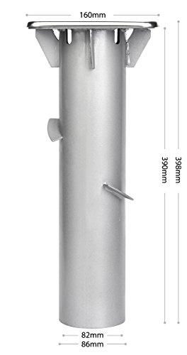 Sekey Metall Universal-Bodenplatte/Sonnenschirmständer für Sonnenschirm/Ampelschirm/Kurbelschirm, Silber - 4