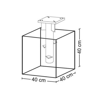 Sekey Metall Universal-Bodenplatte/Sonnenschirmständer für Sonnenschirm/Ampelschirm/Kurbelschirm, Silber - 6