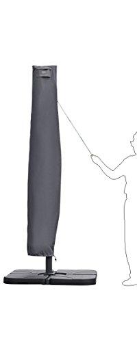 Sekey® Schutzhülle für Ampelschirm,Abdeckhauben für Sonnenschirm,grau - 6