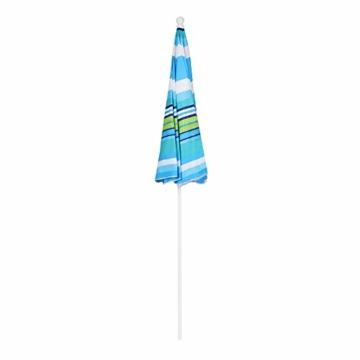 Sekey® Sonnenschirm 200 cm Marktschirm Gartenschirm Terrassenschirm Blaugrüne Streifen Rund Sonnenschutz UV25+ - 6