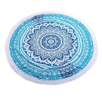 SENYANG Grün Mandala Handwerk Quaste Runde Strandtuch Strand Yoga Matten Schal Schal Tapestry Chiffon Tischdecke Picknickdecke Schal - 5