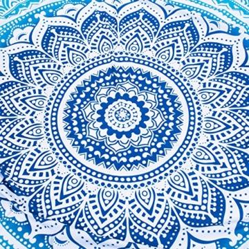 SENYANG Grün Mandala Handwerk Quaste Runde Strandtuch Strand Yoga Matten Schal Schal Tapestry Chiffon Tischdecke Picknickdecke Schal - 6