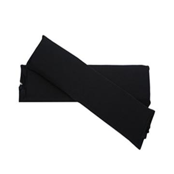 Sharplace 2 STK. Elastische Armauflage, Armlehnen Polster, Ellenbogen Kissen für Drehstuhl Bürostuhl - Schwarz - 2