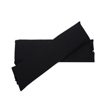 Sharplace 2 STK. Elastische Armauflage, Armlehnen Polster, Ellenbogen Kissen für Drehstuhl Bürostuhl - Schwarz - 3