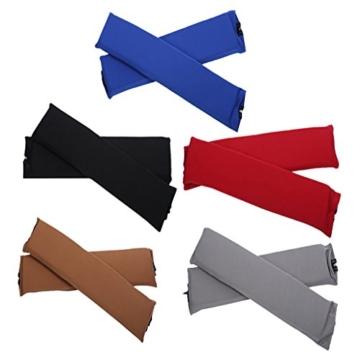Sharplace 2 STK. Elastische Armauflage, Armlehnen Polster, Ellenbogen Kissen für Drehstuhl Bürostuhl - Schwarz - 5