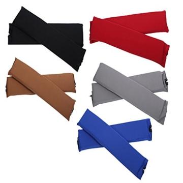 Sharplace 2 STK. Elastische Armauflage, Armlehnen Polster, Ellenbogen Kissen für Drehstuhl Bürostuhl - Schwarz - 8