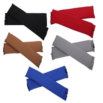 Sharplace 2 STK. Elastische Armauflage, Armlehnen Polster, Ellenbogen Kissen für Drehstuhl Bürostuhl - Schwarz - 9