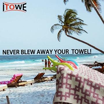 sinzau 8 PCS Jumbo Größe Strandtuch Clips, Vier Farben Wäscheklammern Kunststoff Clips Handtuch Klammer für Strand Pool tägliche Wäsche, schwere Badetuch etc - 7