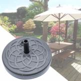 Sonnenschirmständer befüllbar mit Wasser Schirmständer Kunststoff Schirmfuss, Stockgröße-38-48mm,Balkonschirmständer für Balkon Stand Outdoor-45.5cmx45.5cmx12.5cm - 1