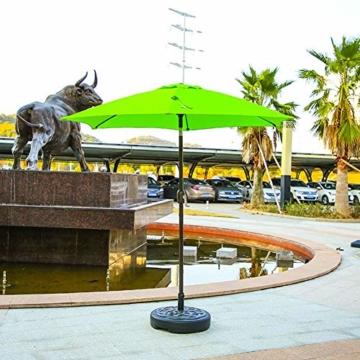 Sonnenschirmständer befüllbar mit Wasser Schirmständer Kunststoff Schirmfuss, Stockgröße-38-48mm,Balkonschirmständer für Balkon Stand Outdoor-45.5cmx45.5cmx12.5cm - 4