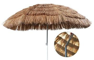 Spetebo Hawaii Strandschirm Ø 165cm - knickbar - Sonnenschirm Gartenschirm Balkonschirm - 2