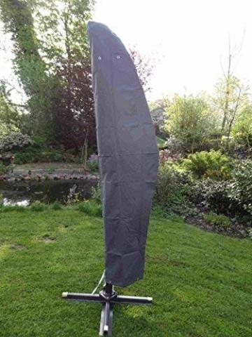 Spetebo Hochwertige Schutzhülle für Ampelschirm bis 400 cm - Material: Oxford 420D - 1