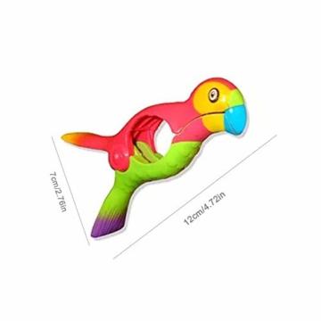 STARTER 2er-Pack Strandtuchklammern, Parrot Bird Kunststoff-Strandtuchklammern, Damit Ihr Handtuch Nicht Wegbläst - 4