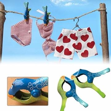 Strandtuch Clips Klammern Fisch Flip Flop 2 Stück Große Wäscheklammern Kunststoff Clips Mehrzweck Klammer Pool Kleidung Clip für Tägliche Wäsche, Strandtuch, Badetuch - 6