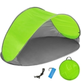 TecTake 800196 Pop Up Strandmuschel Wurfzelt 220x120x100cm mit UV Schutz - Diverse Farben - (Grün Grau | Nr. 401682) - 1