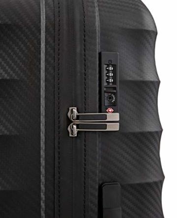 TITAN 4-Rad Koffer L groß mit TSA Schloss, Gepäck Serie HIGHLIGHT: Leichte Hartschalen Trolleys im Carbon Look, 842404-01, 75 cm, 107 Liter, black (schwarz) - 5
