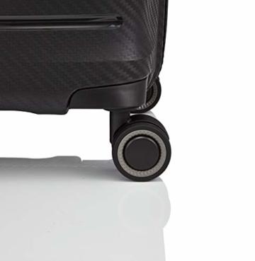 TITAN 4-Rad Koffer L groß mit TSA Schloss, Gepäck Serie HIGHLIGHT: Leichte Hartschalen Trolleys im Carbon Look, 842404-01, 75 cm, 107 Liter, black (schwarz) - 6
