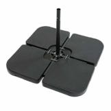 ToCi 4 x Sonnenschirmständer - Gewichte im Set | Element je 50 x 50 x 7.5 cm | zum Befüllen mit Sand/Wasser und bis zu 80 kg - 1