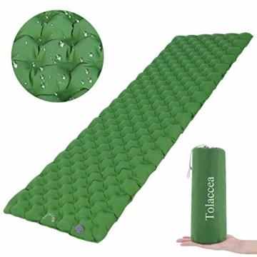 Tolaccea Isomatte aufblasbar Sleeping Pad Camping Luftmatratze aufblasbare Isomatte Camping Isomatte Isomatte Ultraleicht Isomatte Doppelschicht Anti-Leck - 1