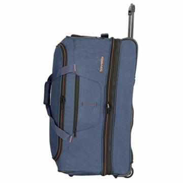 travelite 2-Rad Trolley Reisetasche Gr. L mit Dehnfalte, Gepäck Serie BASICS: Weichgepäck Reisetasche mit Rollen mit extra Volumen, 096276-01, 70 cm, 98 Liter (erweiterbar auf 119 Liter) schwarz - 7